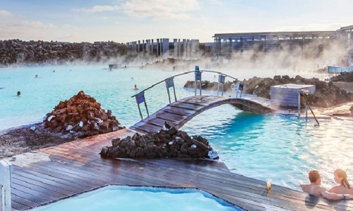 Aguas quentes e termais da Lagoa Azul