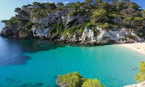 Praia da Macarelleta em Minorca