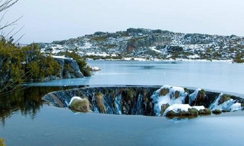 Lagoa dos Conchos no Inverno