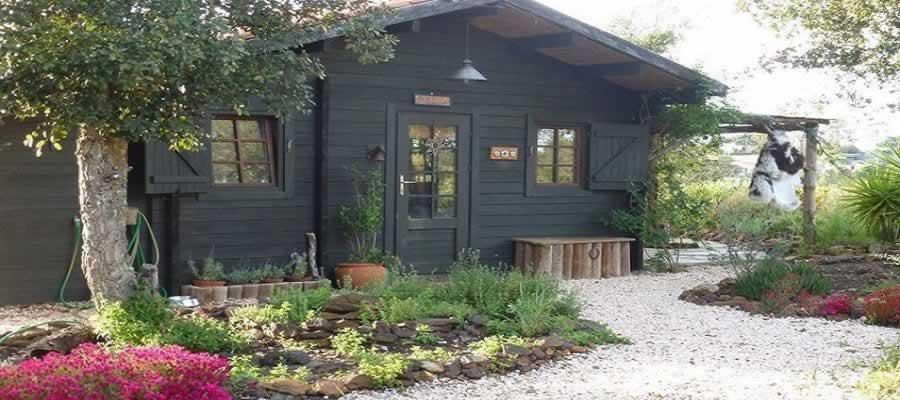 Chalés de madeira na Terra Eco Camping