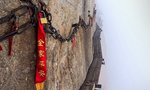 A trilha do Monte Huashan