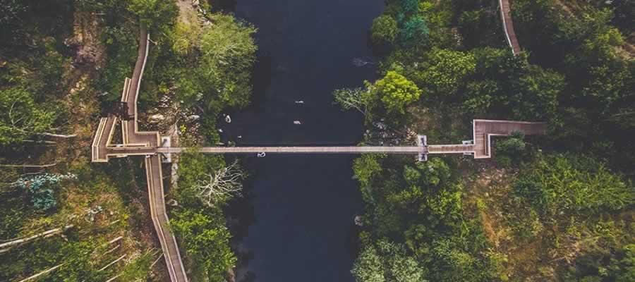 Ponte suspensa dos Passadiços do Paiva